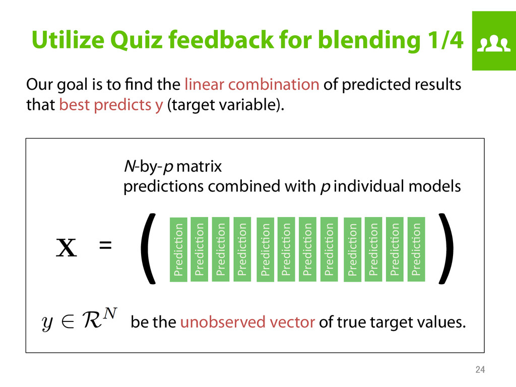 Utilize Quiz feedback for blending 1/4 Our goa...