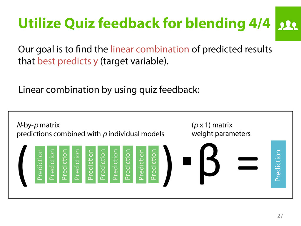 Utilize Quiz feedback for blending 4/4 Our goa...