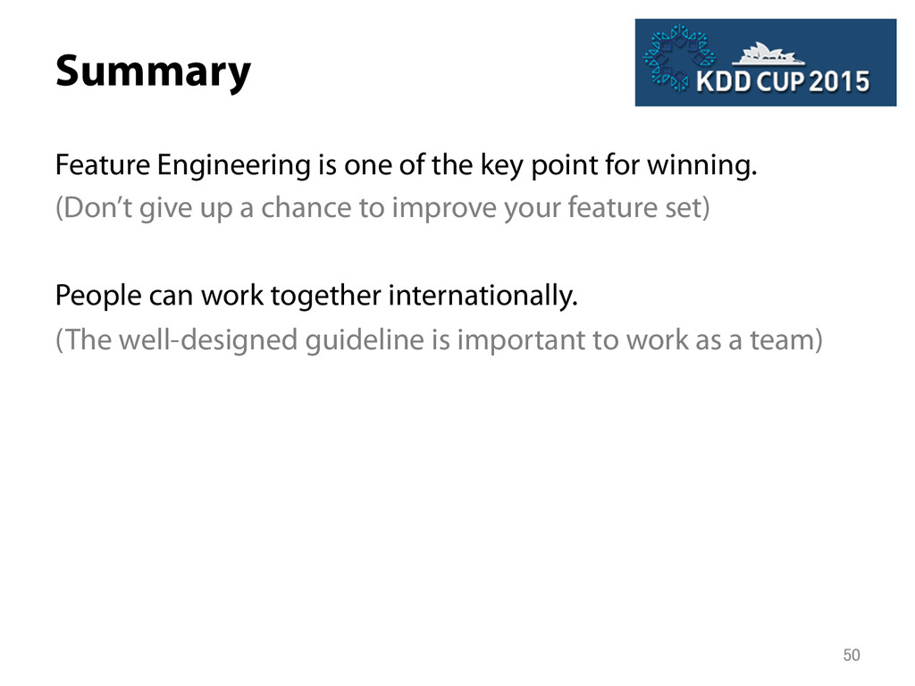 Summary Feature Engineering is one of the key ...