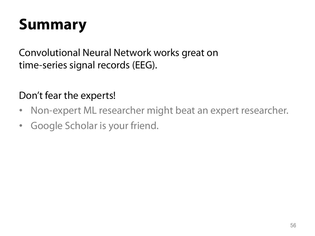 Summary Convolutional Neural Network works gre...