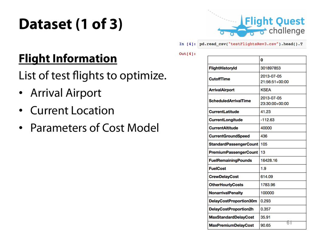 Dataset (1 of 3) Flight Information List of te...