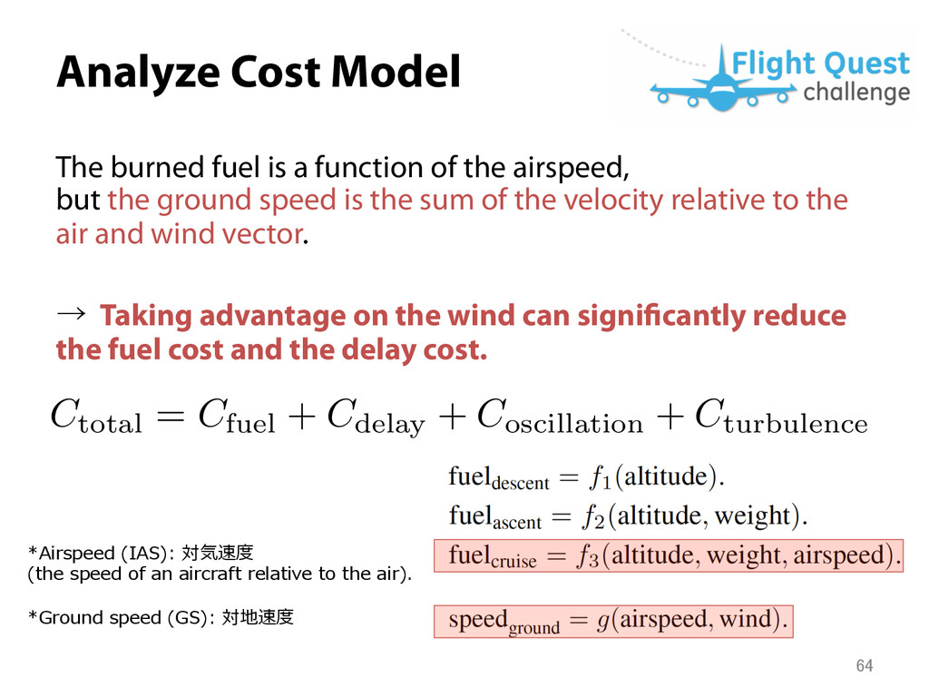 Analyze Cost Model C total = C fuel + C delay ...