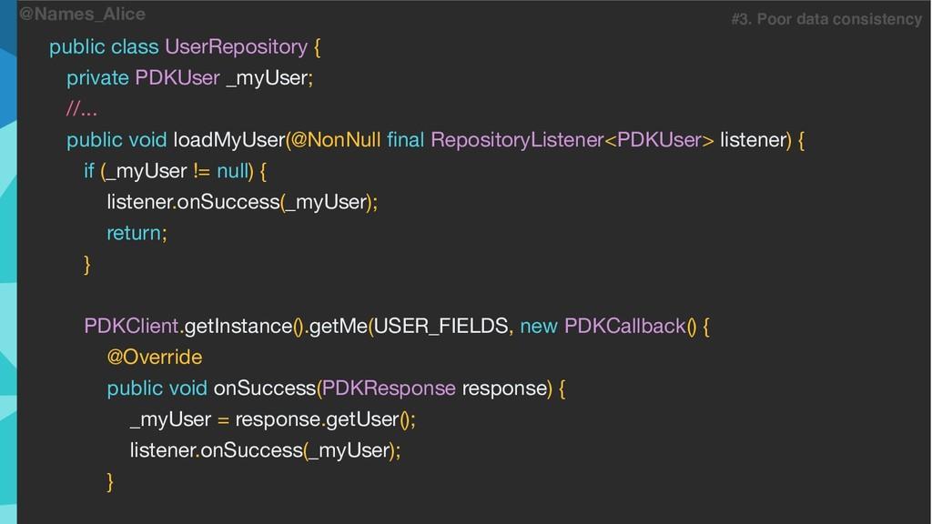 @Names_Alice public class UserRepository {  pri...