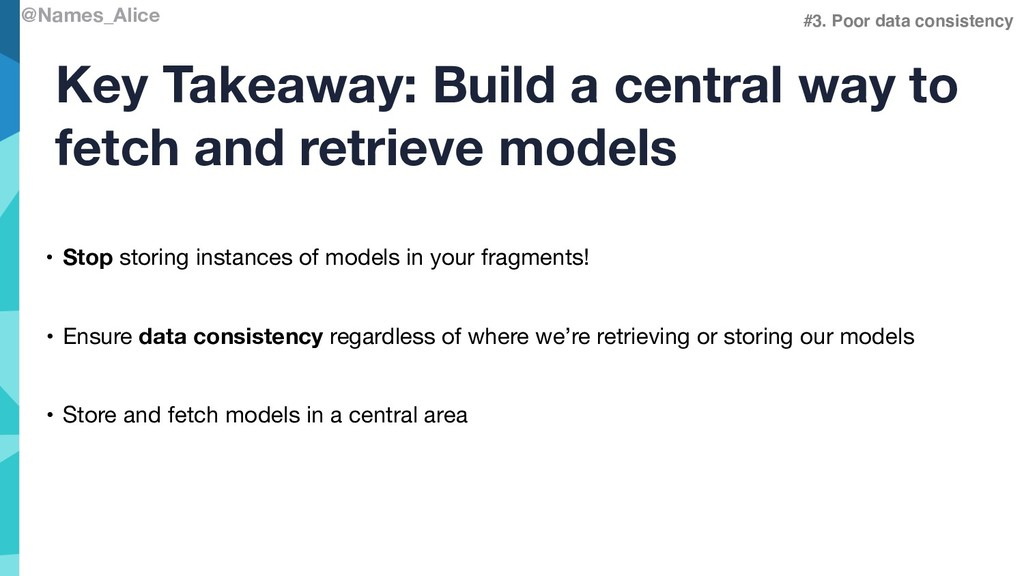 @Names_Alice Key Takeaway: Build a central way ...