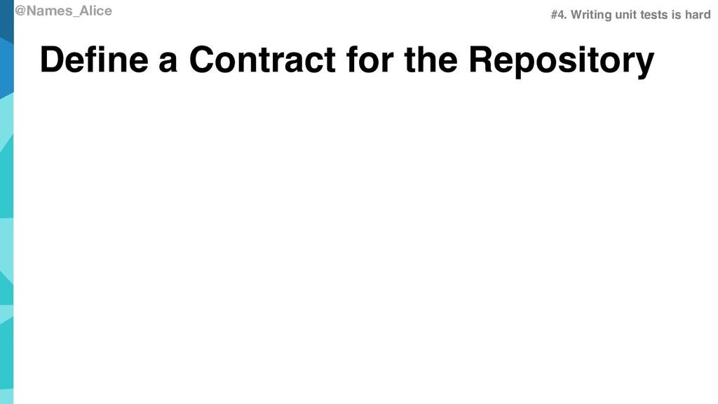 @Names_Alice Define a Contract for the Reposito...