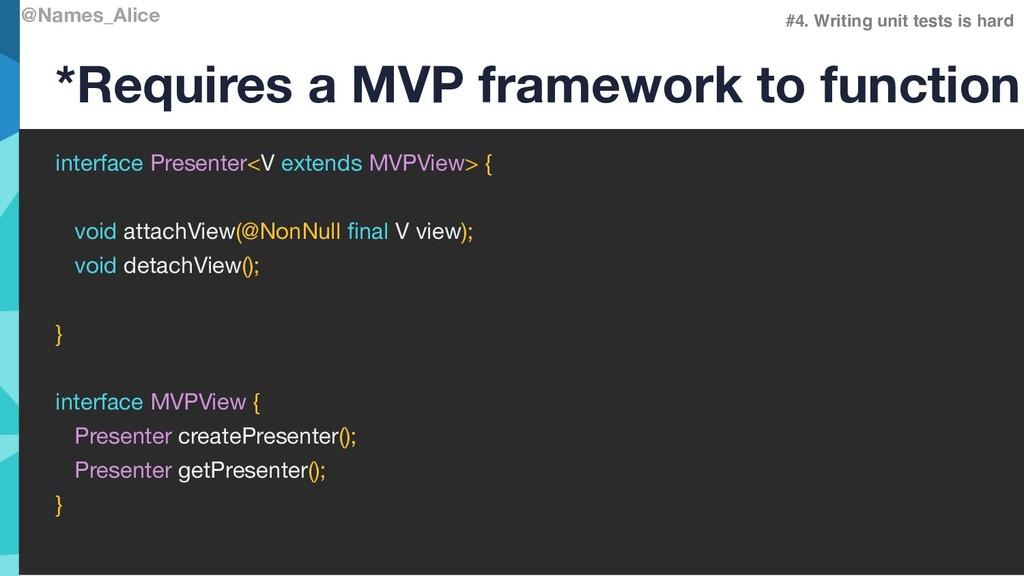 @Names_Alice interface Presenter<V extends MVPV...