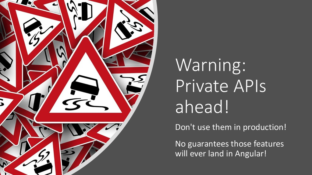 Warning: Private APIs ahead! Don't use them in ...