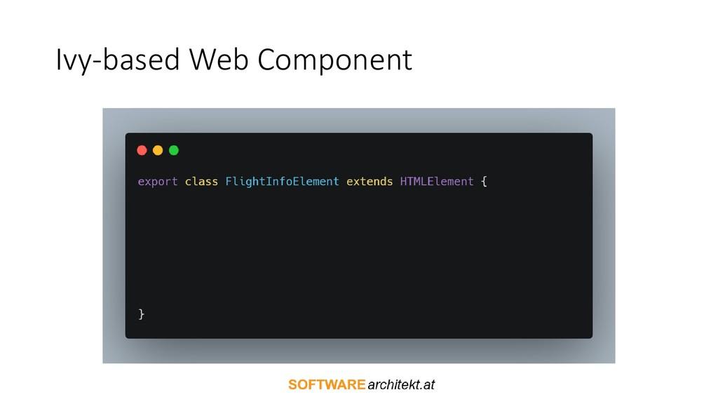 Ivy-based Web Component