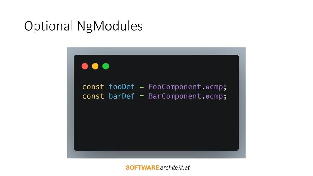 Optional NgModules