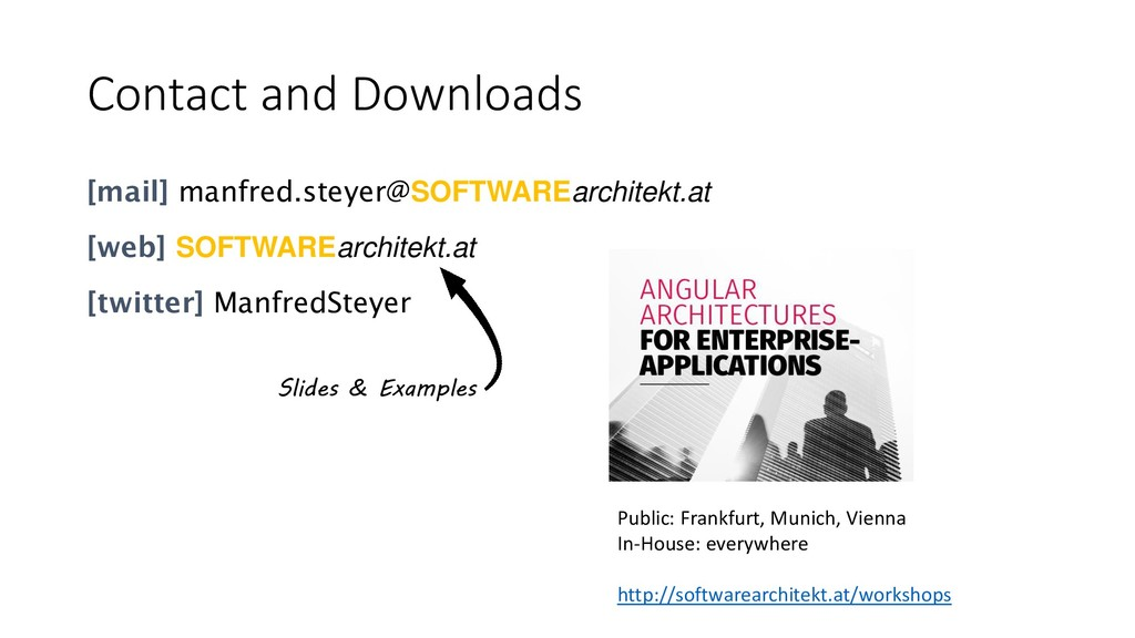 Contact and Downloads [mail] manfred.steyer@SOF...