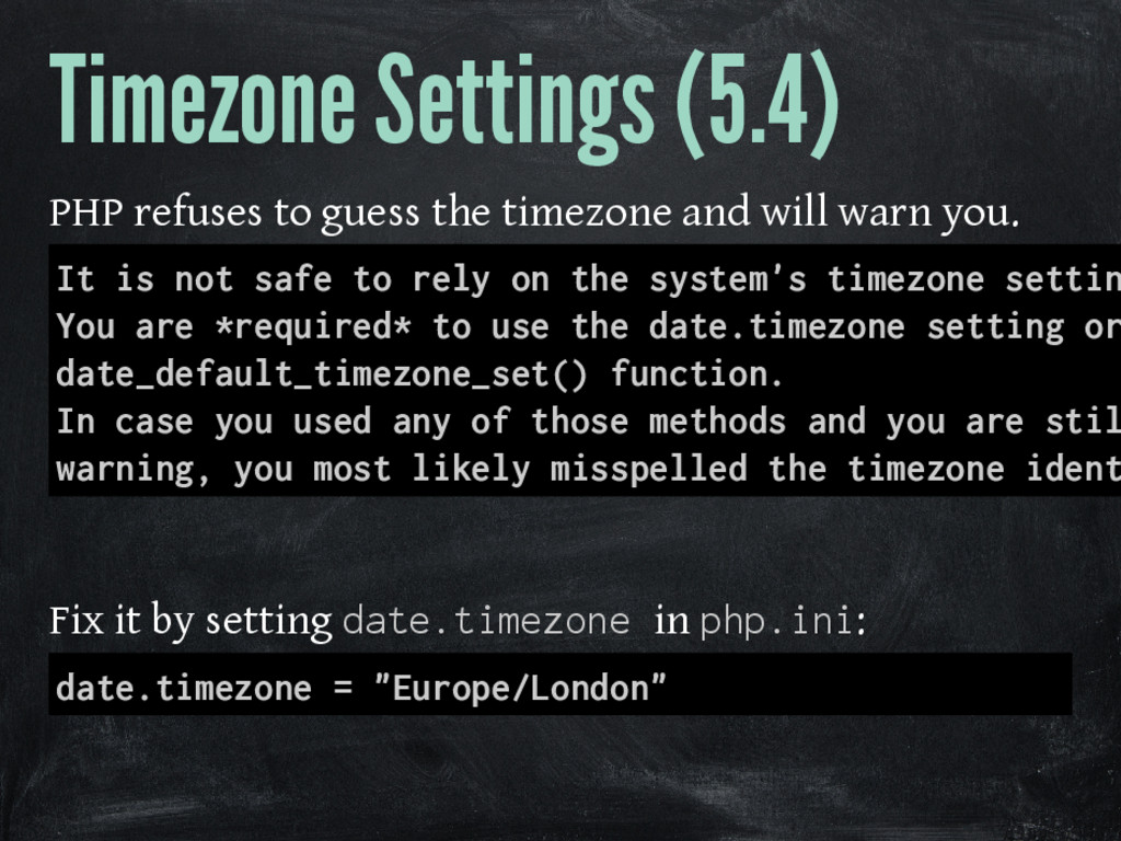 Timezone Settings (5.4) PHP refuses to guess th...