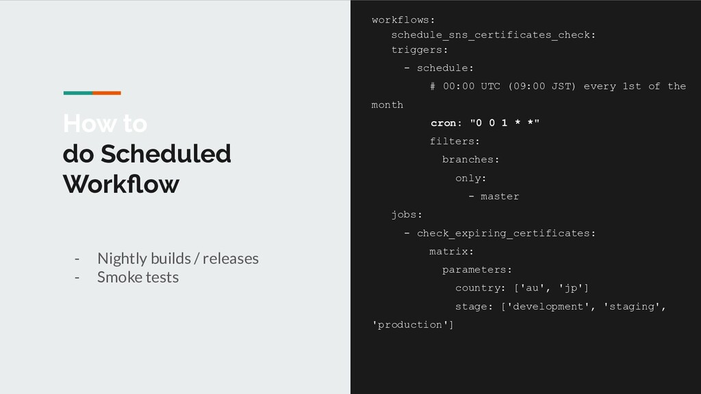 How to do Scheduled Workflow - Nightly builds / ...