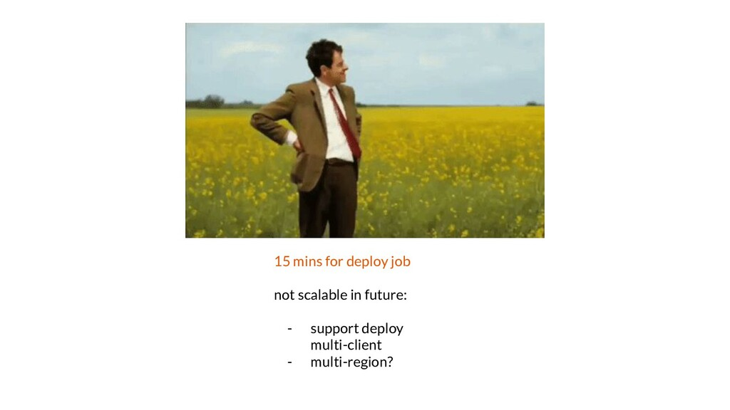 15 mins for deploy job not scalable in future: ...