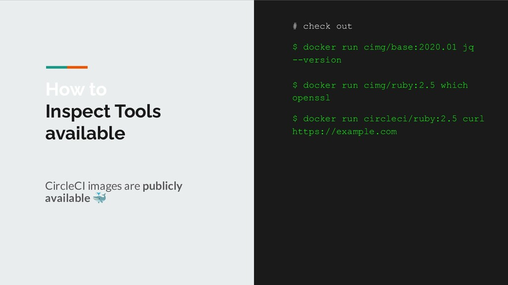 How to Inspect Tools available CircleCI images ...
