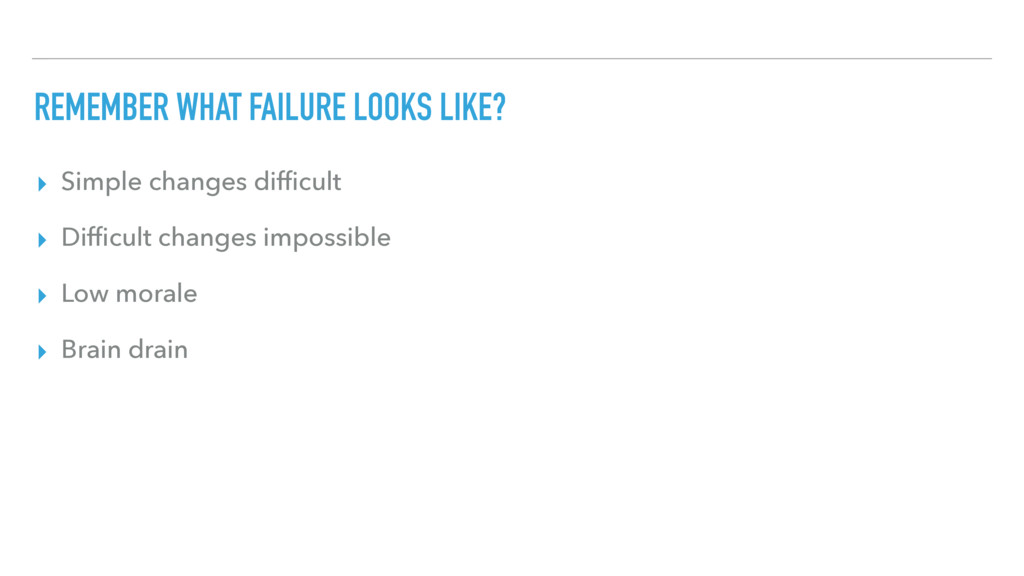 REMEMBER WHAT FAILURE LOOKS LIKE? ▸ Simple chan...