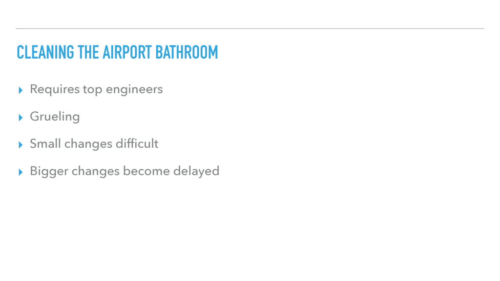 CLEANING THE AIRPORT BATHROOM ▸ Requires top en...