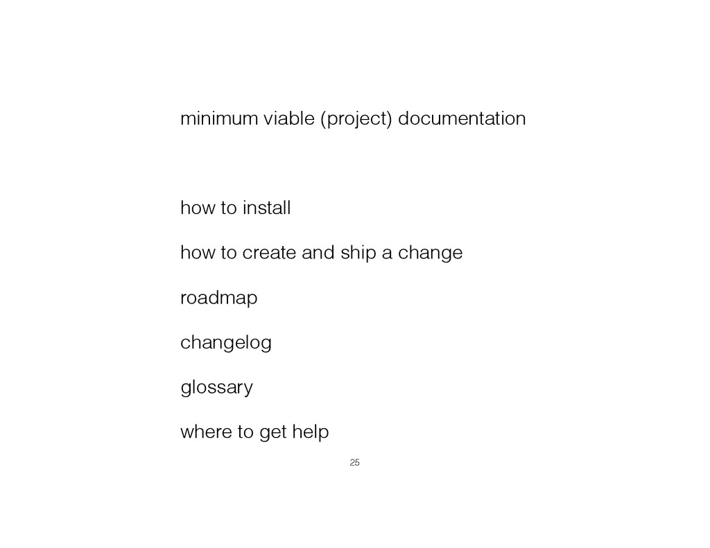minimum viable (project) documentation ! how to...