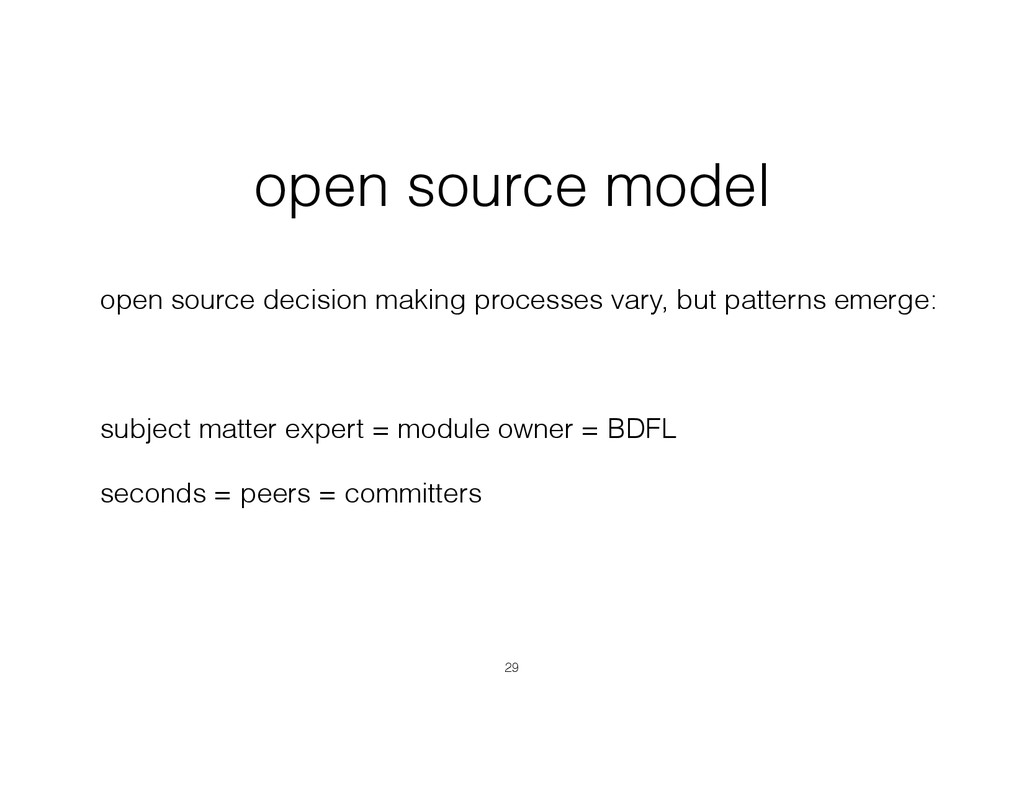 open source model open source decision making p...