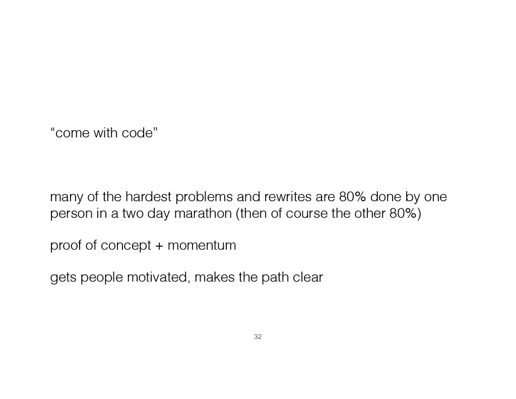 """come with code"" ! many of the hardest problems..."