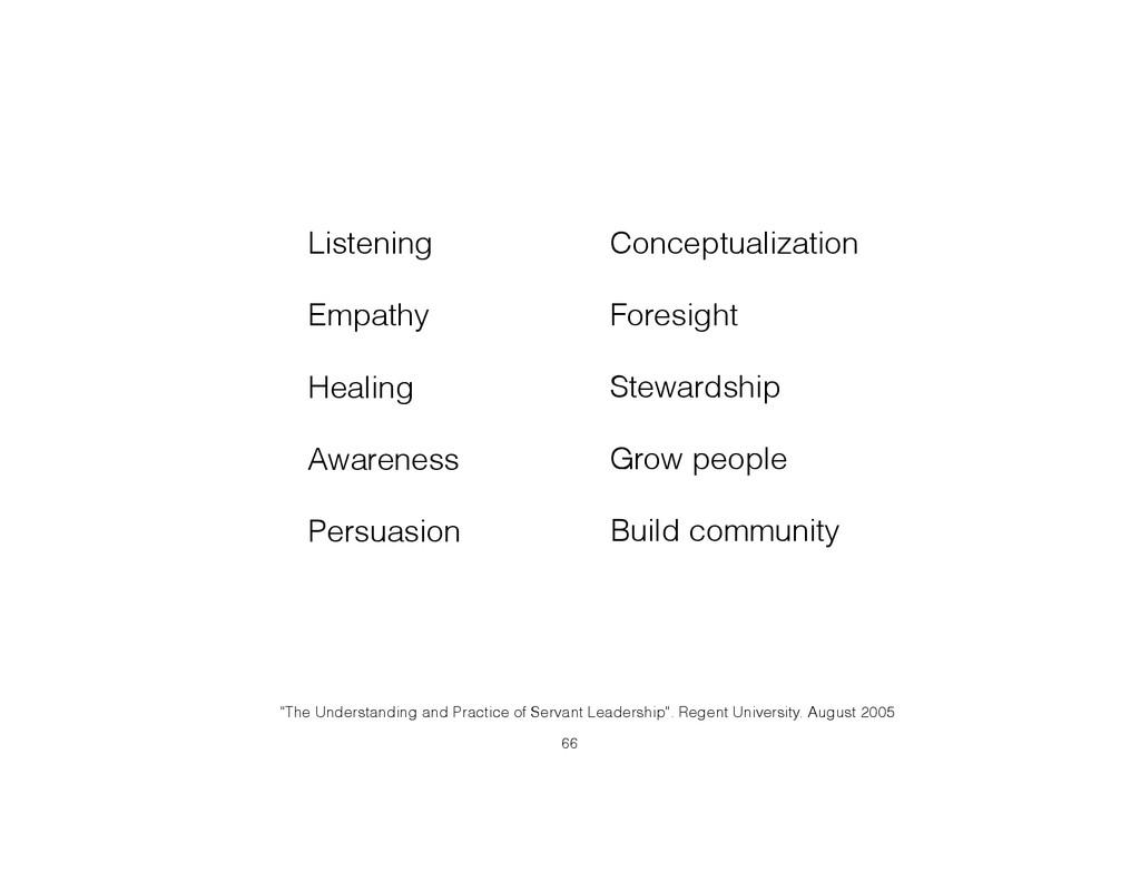 Listening Empathy Healing Awareness Persuasion ...