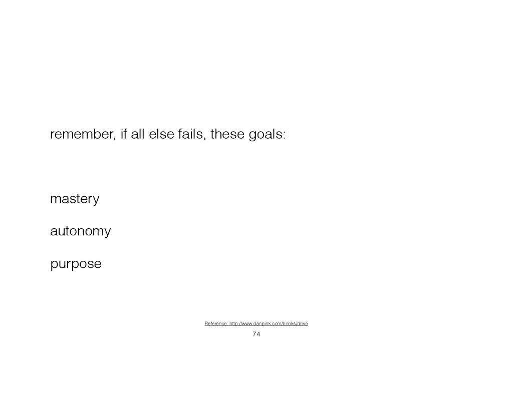 remember, if all else fails, these goals: ! mas...