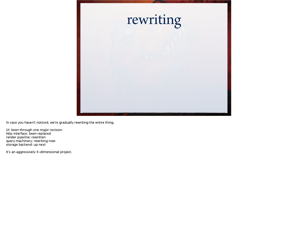 rewriting In case you haven't noticed, we're gr...
