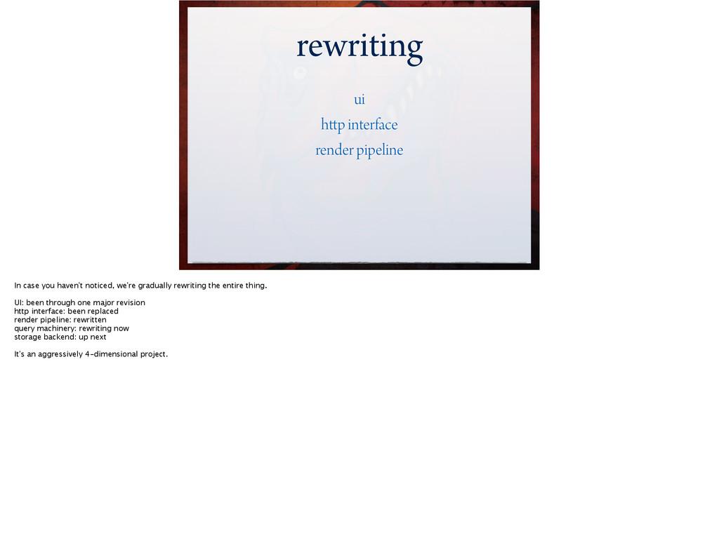 rewriting ui http interface render pipeline In ...
