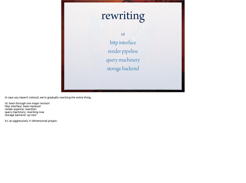rewriting ui http interface render pipeline que...
