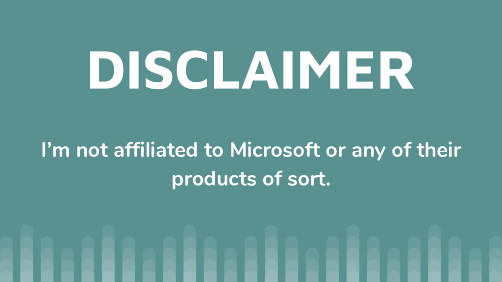 DISCLAIMER I'm not affiliated to Microsoft or a...