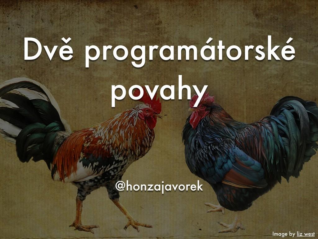 Dvě programátorské povahy @honzajavorek Image b...