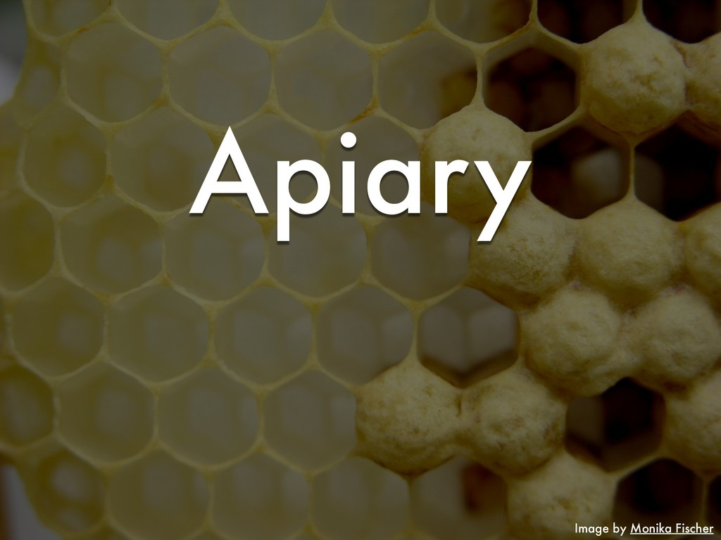 Image by Monika Fischer Apiary
