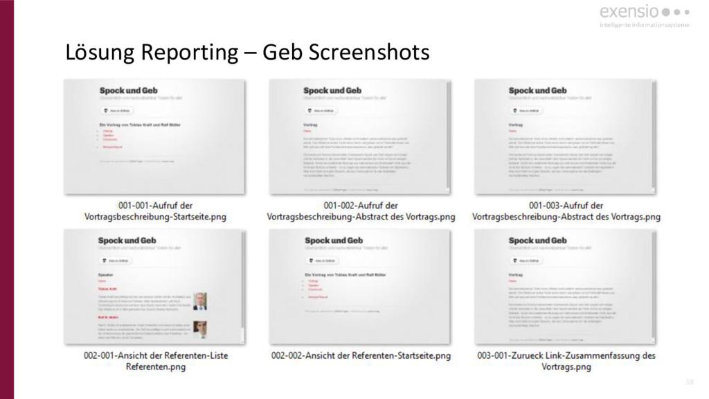 38 Lösung Reporting – Geb Screenshots