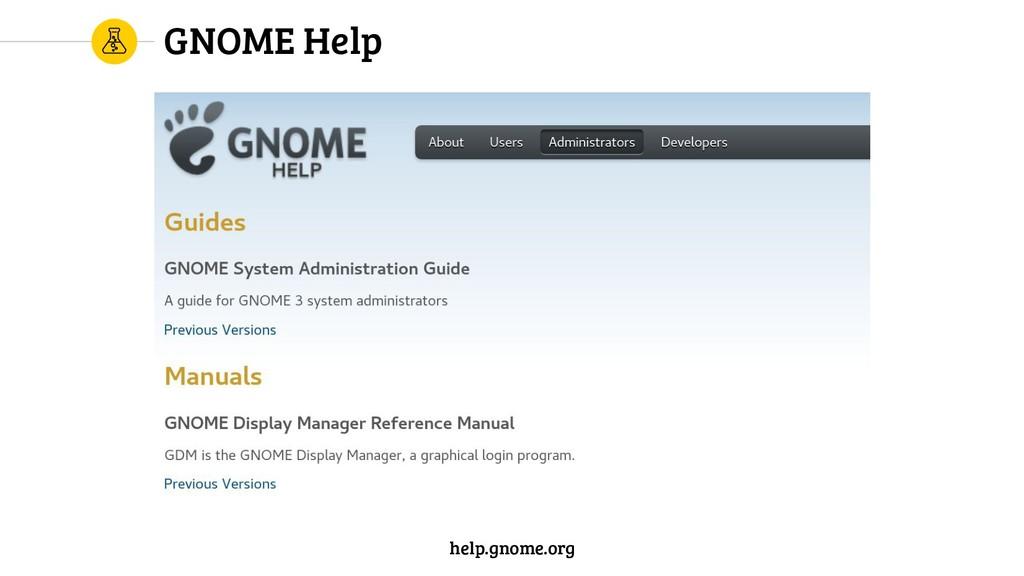 GNOME Help help.gnome.org