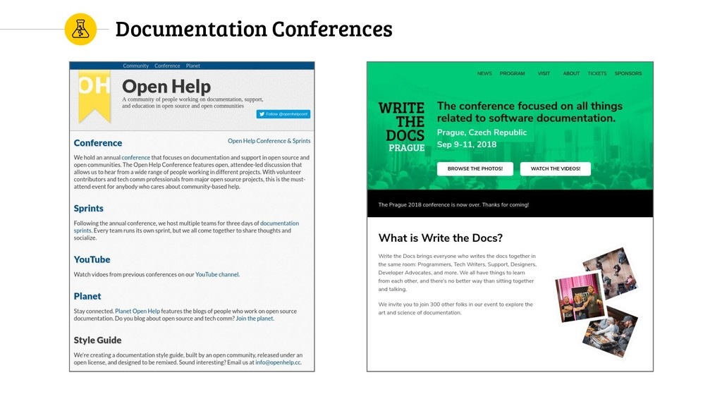 Documentation Conferences