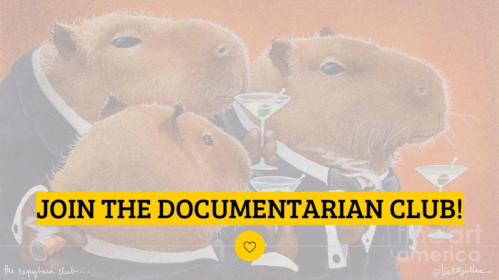 JOIN THE DOCUMENTARIAN CLUB!
