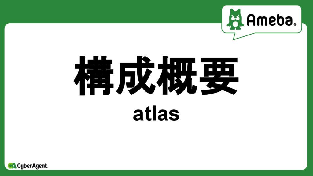 構成概要 atlas