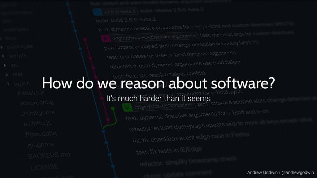 How do we reason about software?