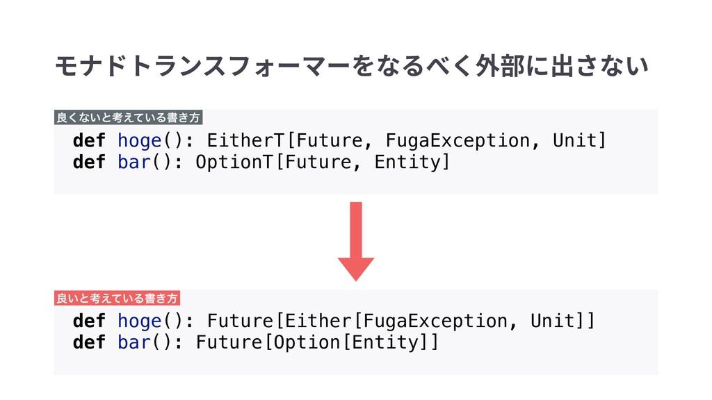 def hoge(): EitherT[Future, FugaException, Unit...