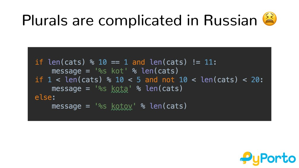 Plurals are complicated in Russian