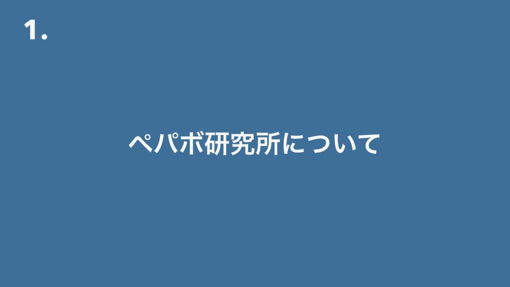 1. ϖύϘݚڀॴʹ͍ͭͯ