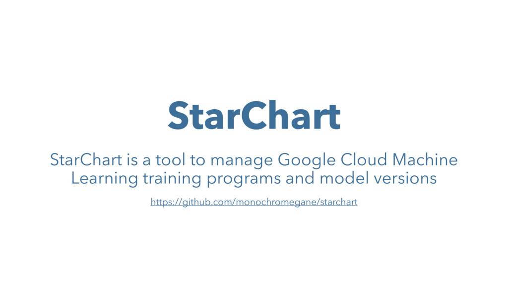 StarChart StarChart is a tool to manage Google ...