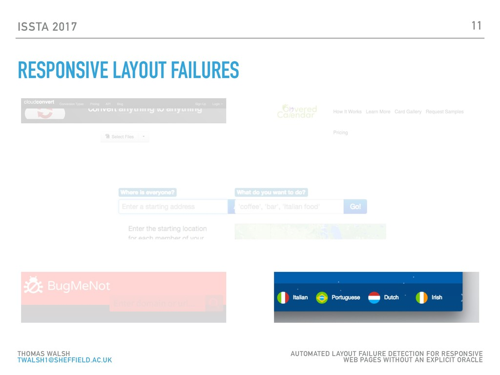 ISSTA 2017 RESPONSIVE LAYOUT FAILURES 11 THOMAS...