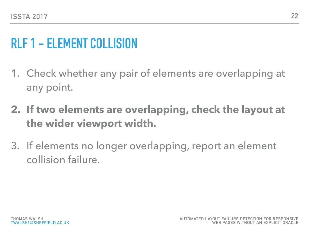 ISSTA 2017 RLF 1 - ELEMENT COLLISION 1. Check w...