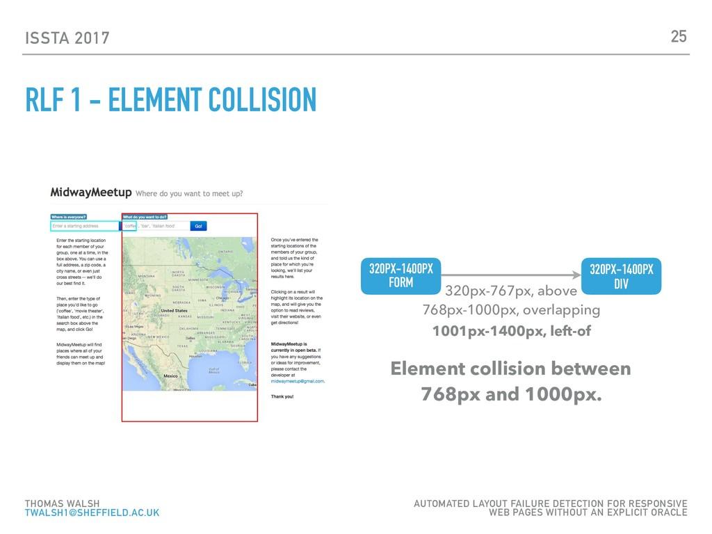 ISSTA 2017 RLF 1 - ELEMENT COLLISION 25 THOMAS ...
