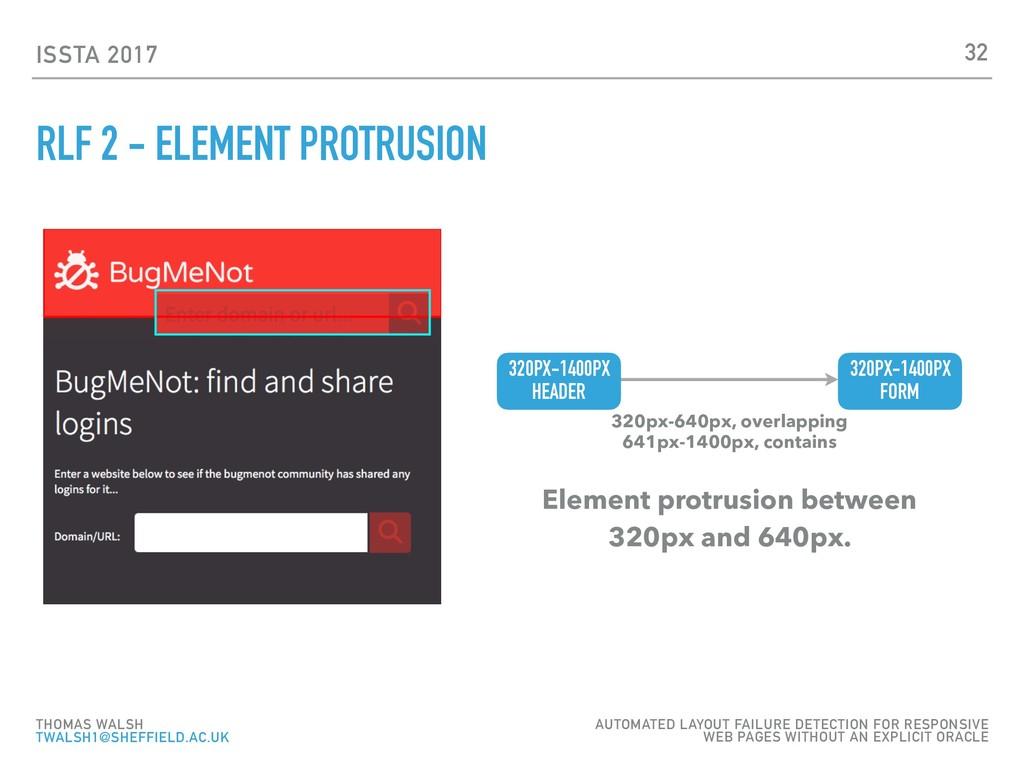 ISSTA 2017 RLF 2 - ELEMENT PROTRUSION 32 THOMAS...