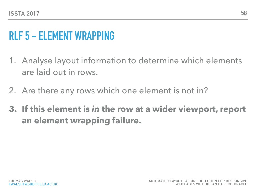 ISSTA 2017 RLF 5 - ELEMENT WRAPPING 1. Analyse ...