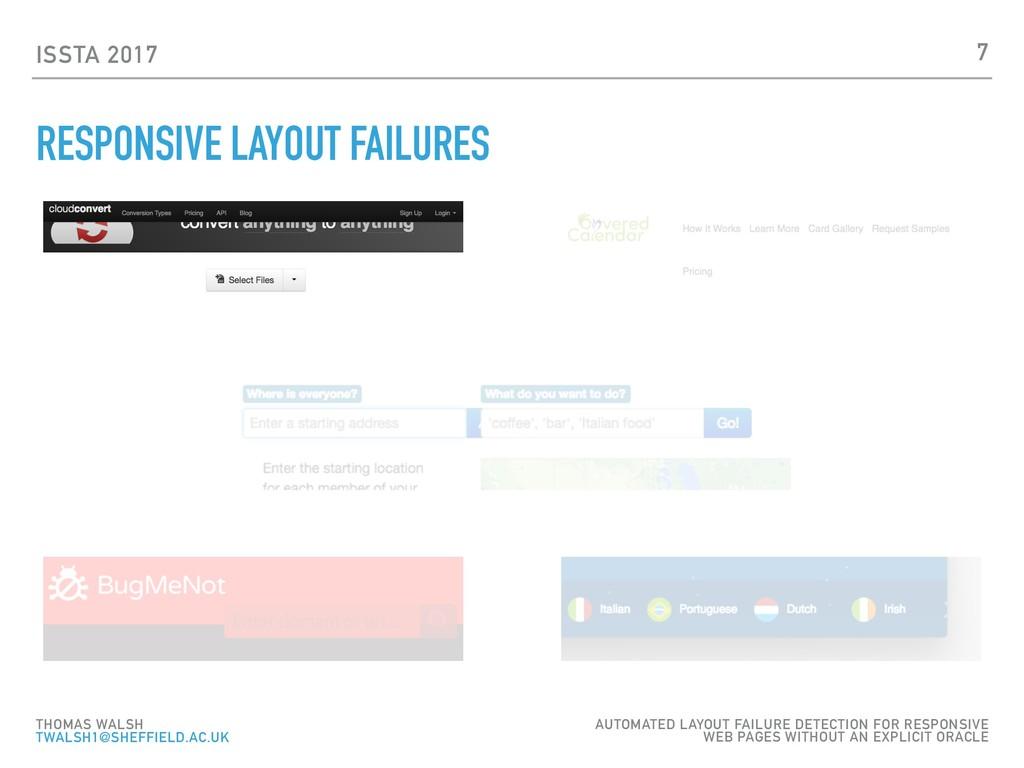 ISSTA 2017 RESPONSIVE LAYOUT FAILURES 7 THOMAS ...