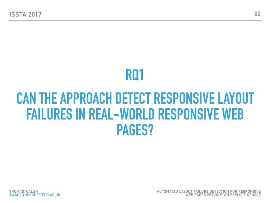 ISSTA 2017 RQ1 CAN THE APPROACH DETECT RESPONSI...