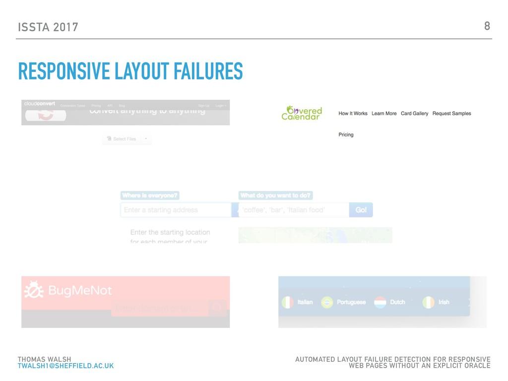 ISSTA 2017 RESPONSIVE LAYOUT FAILURES 8 THOMAS ...