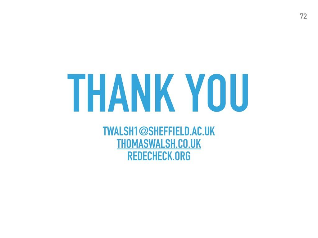 THANK YOU TWALSH1@SHEFFIELD.AC.UK THOMASWALSH.C...
